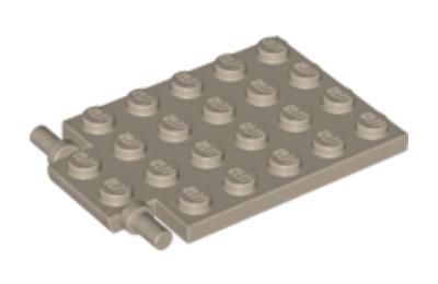 LEGO alaplap, módosított, 4 x 6, csapóajtó