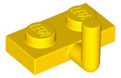 LEGO alaplap, módosított, 1 x 2 karral