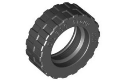 LEGO kerék gumi, 17.5 x 6