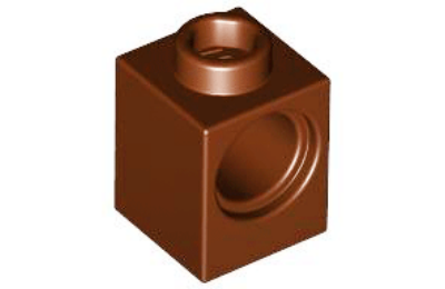 LEGO technic, kocka 1 x 1, 1 lyukkal
