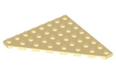 LEGO alaplap, ferde, 8 x 8, vágott sarokkal