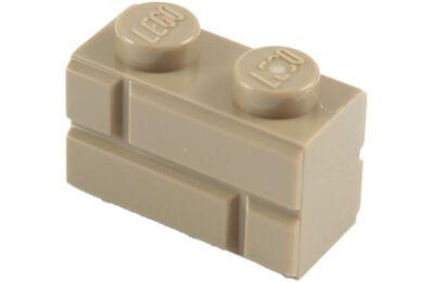 LEGO kocka, módosított, 1 x 2, téglafal mintával