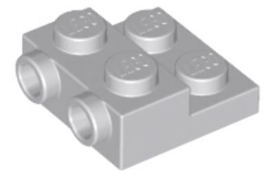LEGO alaplap, 2 x 2 x 2/3, csatlakozóval az oldalán is