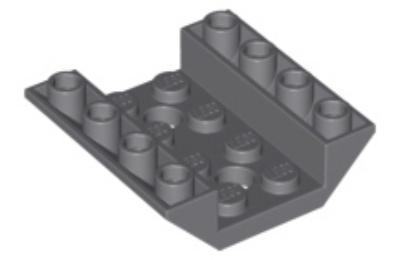 LEGO lejtő, fordított 45 4 x 4, dupla,  2 lyukkal