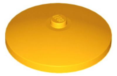 LEGO tál 4 x 4 inverz (radar)