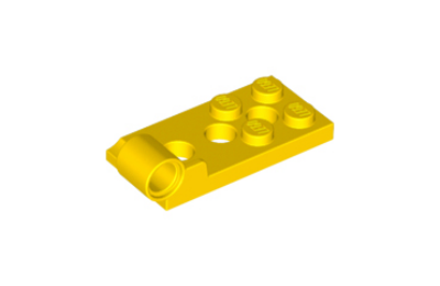 LEGO zsanér alaplap, 2 x 4, 3 lyukkal, oldalán csatlakozóval