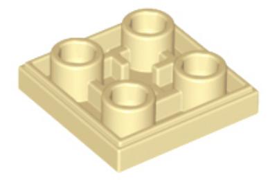 LEGO csempe, módosított, 2 x 2 inverz