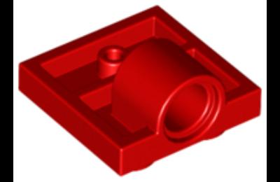 LEGO alaplap módosított, 2 x 2, alul csatlakozó lyukkal