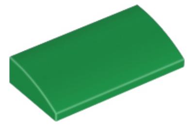 LEGO tető, íves 2 x 4 x 2/3