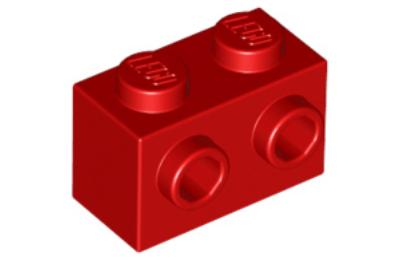 LEGO kocka, módosított, 1 x 2, 1 oldalán csatlakozókkal