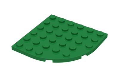 LEGO alaplap, kerek sarok 6 x 6, íves