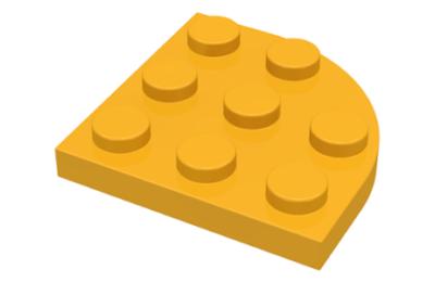 LEGO alaplap, kerek sarok 3 x 3, íves