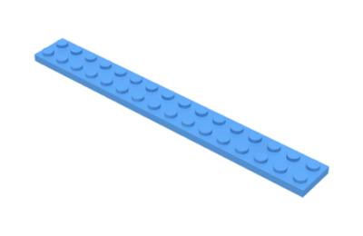 LEGO alaplap 2 x 16