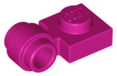 LEGO alaplap, módosított, 1 x 1, kerek csatlakozóval