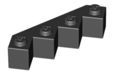 LEGO kocka, módosított, 4 x 4, fűrészfogas