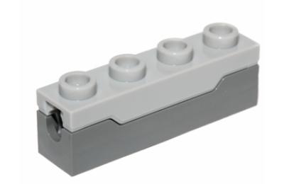 LEGO kocka, módosított, 1 x 4, rúgós kilövő szerkezet