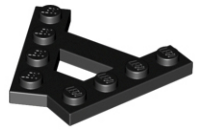 """LEGO alaplap, módosított, """"A"""" forma, 2 - 1 x 4"""