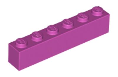 LEGO kocka 1 x 6