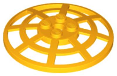 LEGO tál 6 x 6 inverz (radar) bordázott - típus 2
