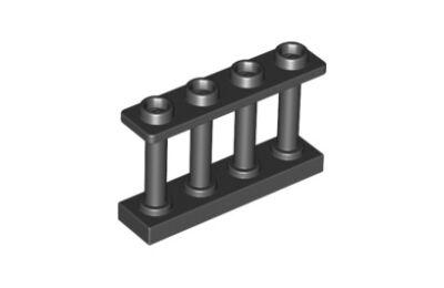 LEGO kerítés 1 x 4 x 2, 4 felső tartóval