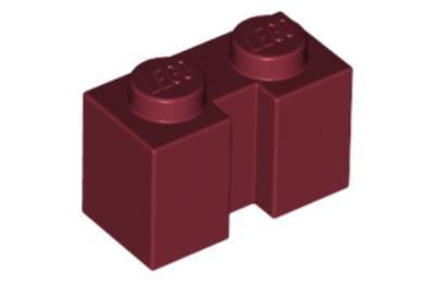 LEGO kocka, módosított, 1 x 2 oldalán bevágással