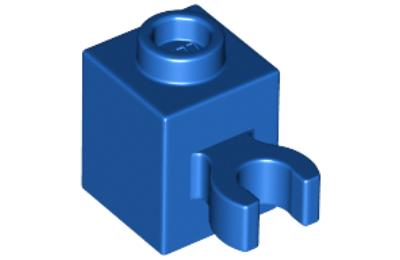LEGO kocka, módosított, 1 x 1, vízszintes O csatlakozóval, típus 2