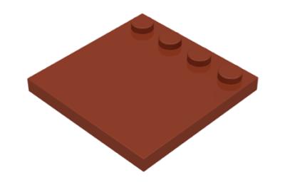 LEGO csempe, módosított 4 x 4, egyik szélén 4 csatlakozóval