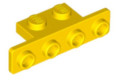 LEGO konzol 1 x 2 - 1 x 4 lekerekített sarokkal