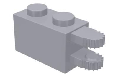 LEGO zsanér kocka, 1 x 2, 2 vízszintes karral a végén