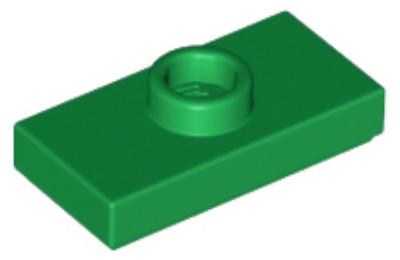 LEGO alaplap, módosított 1 x 2, csatlakozóval a tetején, típus 1 (jumper)