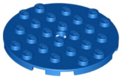 LEGO alaplap, kerek 6 x 6 lyukkal