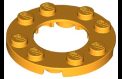 LEGO alaplap, kerek 4 x 4, 2 x 2-es lyukkal a közepén