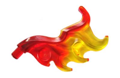 LEGO madártoll / láng, átlátszó piros - sárga