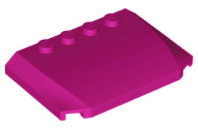 LEGO autó motorháztető, 4 x 6 x 2/3