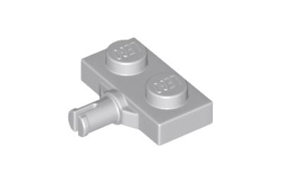 LEGO alaplap módosított, 1 x 2, keréktartó csatlakozóval