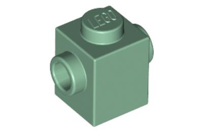 LEGO kocka, módosított, 1 x 1, 2 szemközti oldalán csatlakozókkal