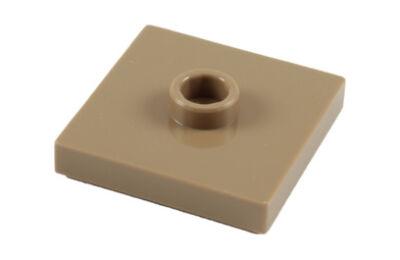 LEGO alaplap, módosított 2 x 2, csatlakozóval a tetején (jumper)