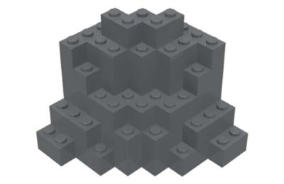 LEGO sziklafal, 8 x 8 x 6