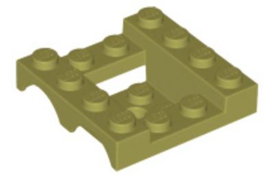 LEGO jármű alváz,4 x 4 x 1 1/3, dupla ívvel