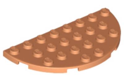 LEGO alaplap, félkör, 4 x 8