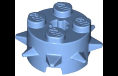 LEGO módosított kocka, 2 x 2, henger tüskékkel