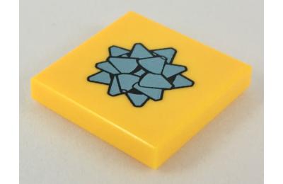 LEGO csempe 2 x 2, dekorált, ajándék masni mintával