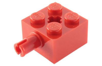 LEGO kocka módosított, 2 x 2 keréktartó csatlakozóval