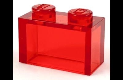 LEGO kocka 1 x 2, belső tartó nélkül