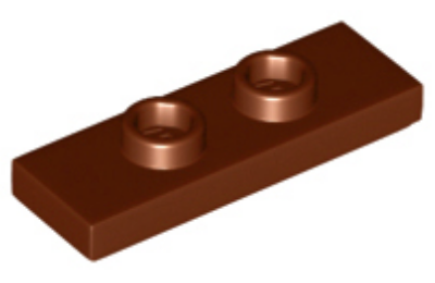LEGO alaplap, módosított 1 x 3, 2 csatlakozóval a tetején, (dupla jumper)
