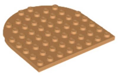 LEGO alaplap, 8 x 8, lekerekített