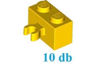 LEGO kocka, módosított, 1 x 2, vízszintes O csatlakozóval - CSOMAG ÁR