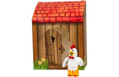 Húsvéti csirke ruhás ember